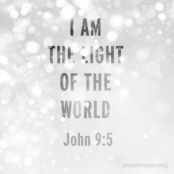 John 9:5 While I am in the world, I am the light of the world. http://t.co/PVF49IMfno