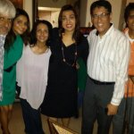 At Suchitra Krishnamoorthi's birthday bash: With Vikram Bhatt, Madhoo, Suchitra, Simran and Nagesh Kukunoor.