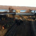 5 carriages of New York City passenger train derail in Bronx next to water; injuries reported http://t.co/SwGR8R0qRO