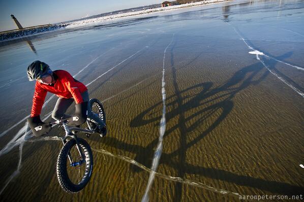 Winter Biking Across a Frozen Lake Michigan http://t.co/Ykg0dgmRUN