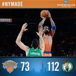 RT @nyknicks: #Knicks fall to Boston despite 17 points from @Amareisreal. http://t.co/E3FvTcaWGJ
