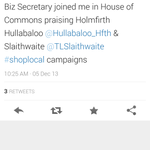 Did you see our @Hullabaloo_Hfth was mentioned in Parliament, thank you @JasonMcCartney #holmfirthhour http://t.co/DzFPVFmeHR