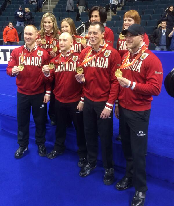 Our Canadian representatives in Sochi! @TeamBradJacobs @TeamJJonesCurl @CDNOlympicTeam #curling http://t.co/99lyhEmX7V