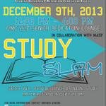 Dont forget about Study Slam tomorrow! Food and study materials will be providing starting at noon in UMC 227! http://t.co/F74VM8FmKR