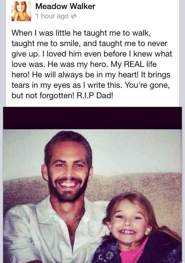 RT @ChilldhoodRuin: This actually breaks my heart .... RIP Paul Walker http://t.co/tjXMj71Wtq