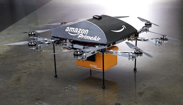 Wow RT @amazon: sneak peek of #PrimeAir. Deliveries in <30 mins. by unmanned aerial vehicles http://t.co/B4cVisf9RD http://t.co/wBKp16hkdZ