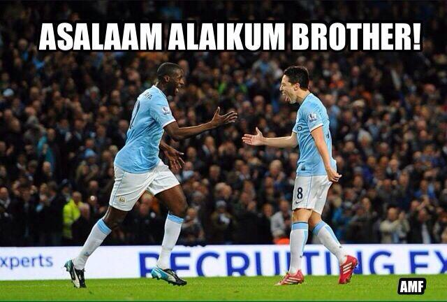 @SamNasri19 and @Toure_yaya42. Let's see who can send in the best meme involving #MuslimFootballers