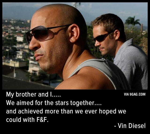 Dom has lost his greatest partner and family member. #rippaulwalker