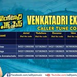 RT @adityamusic: @sundeepkishan's Super Hit #VenkatadriExpress Caller Tune Codes! RT if you loved the movie! http://t.co/buSXpc3Dfo