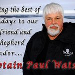 RT @SeaShepherd_USA: Please join us in wishing our founder @CaptPaulWatson a very happy birthday!