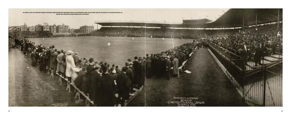 100 years ago today, the 1st game at Wrigley (then named Weeghman Park): http://t.co/jAMF8hWbEB @Cubs