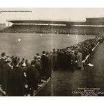 From new Wrigley Field book, photo from 1st game at (then) Weeghman Park (April 29, 1914). @Cubs http://t.co/jAMF8hWbEB