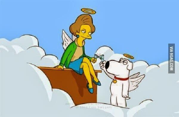 @9GAG: Meanwhile in Heaven....