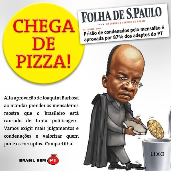 A maior parte dos brasileiros apoiou a condenação dos mensaleiros, inclusive os simpatizantes do PT FORA PT http://t.co/z4UNtDle6d