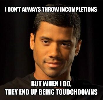 The Most Interesting Russell Wilson. #MNF #NOvsSEA #Seattle #Seahawks #Memes #12thMan