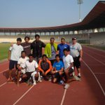 Doubt the workout was tough, everyone is smiling, @SomdevD , Physio_yash, @nvsp28, @TennisITPA , @puravraja.