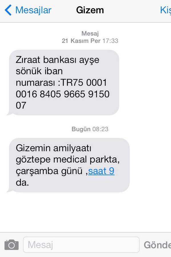 Ebru Karanfilci (@EbruKaranfilci): Bugün annesinden aldığım mesaj.Çok gururlu bir insan ama