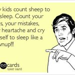 Only kids count sheep to fall asleep... http://t.co/DknKG1MDaB