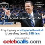 #BBN, w/ the help of my friends at #CelebCalls, I'm going to give one of you a signed bball! http://t.co/qTWvJraqA5 http://t.co/9bPzfPfkMR