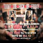 RT @iamZipK: ...FRIDAY IM HOSTING @tracykay2 & @cydneejazmeres birthday bash! @isthatDJLex spinning!!!  ==>> http://t.co/oTTD8rDTrr <=== RT!!
