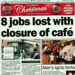 Sad Aberystwyth news. You may remember I was brought up in Caffi Morgan. It sadly closed down on the weekend. :( http://t.co/IIMVboCeNx