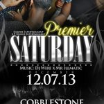 TOMORROW NIGHT 12/7 #Cobblestone #PremierSaturdays #LadiesFREEtil12 MUSIC @DjWire1 & @DjMrillmatic #VIPsoldout http://t.co/ijGGgXg5J7
