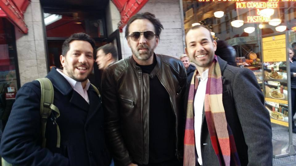 The guys met #NicolasCage today in NYC & @Joe_Gatto hailed a cab 4 him! @SalVulcano @jamessmurray #impracticaljokers http://t.co/pVaWLxMBzC