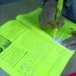 "RT @instagranzin: professora: ""marquem as partes mais importantes"" eu: http://t.co/qC14m58HQg"