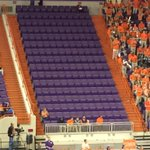 RT @EmptySeatsPics: Clemson student section tonight. #Tigers #basketball (h/t @marychandler) http://t.co/x0qLWHsWDV