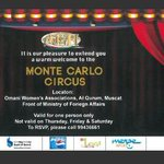 Chris: Ive got 2 #VIP tks for the Monte Carlo Circus to give away again. RT to get int eh draw to win! #goodluck http://t.co/fuLYaIktgS