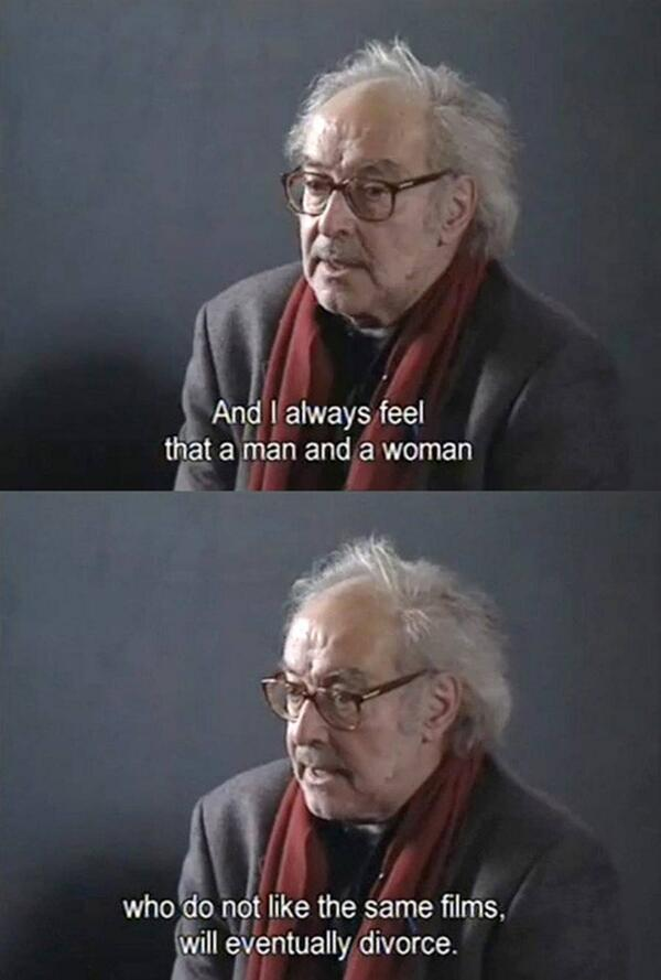 A legendary quote by my hero, Jean-Luc Godard. Joyeux anniversaire Monsieur! #quote #relationship #film http://t.co/VFZyYCpoNW
