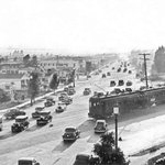 The intersection of Fairfax Ave. and San Vicente Blvd. in 1936: http://t.co/2MFsUgNRRk