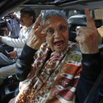 Rahul Gandhi/Sonia Gandhi aur Main! RT @HIT3N: Caption this >> RT @htTweets Sheila Dikshit after casting her vote. http://t.co/kElrsmubcU