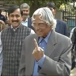RT @ndtv: Former President APJ Abdul Kalam after voting in Delhi. LIVE updates: http://t.co/viT12I5PHc #DelhiVote http://t.co/w37y41blwZ