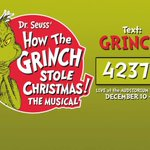 "Win tix to see the Broadway sensation ""Dr. Seuss How the Grinch Stole Christmas - The Musical""! Text GRINCH to 42379 http://t.co/5P2Tm8DK0q"