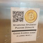 Why panhandle in person when you can just post a QR code in a BART station asking for Bitcoin? http://t.co/F205fQketS