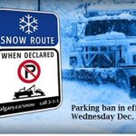 Snow route parking ban in effect starting Wednesday Dec. 4 at 9 a.m. http://t.co/BjZp9Ali4f #yyc #yycstorm http://t.co/boLIFsAU0R