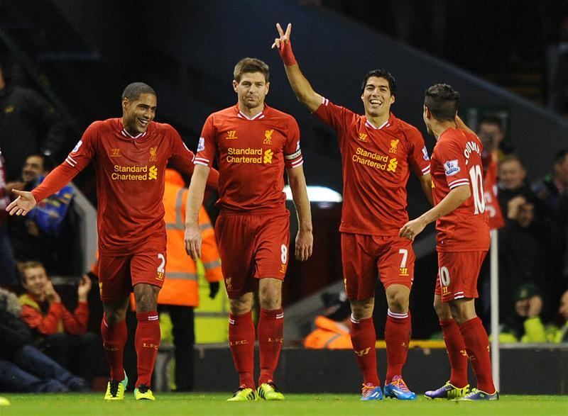 Every single goal Luis Suarez has scored for Liverpool v Norwich in 1 post