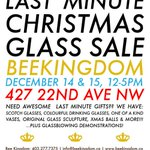 Last Minute Open House coming up! You are invited to our last event of the season! Great glass gifts! #yycarts http://t.co/Vua4uxAXOI