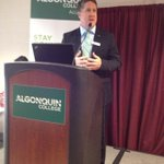 "President @kentmacdonald  says ""the world needs a little bit of @algonquincolleg - best college in Canada"" http://t.co/l68rtIVO6v"