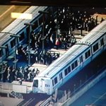 Hot damn RT @KTVU Scene at the #Rockridge #BART station http://t.co/qvWw9E1T8t