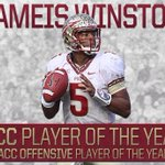 Congrats to Jameis Winston on being the first underclassman ever to be named ACC Player of the Year! http://t.co/fevPHV0zto
