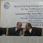 #Spanish ambassador to #Pakistan having chat with @DrBabarAwan in a seminar at #IHC #Islamabad http://t.co/qq37xCQE7o