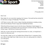 Why is Swansea v Newcastle the only Premier League game on TV tonight? We wrote to BT Sport to find out... http://t.co/HMg8H7qjSz