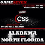 Its GAMEDAY Bama Nation! Were back at home tonight to face North Florida. 7:00 pm tip on CSS. #RollTide http://t.co/NKo43nTYts