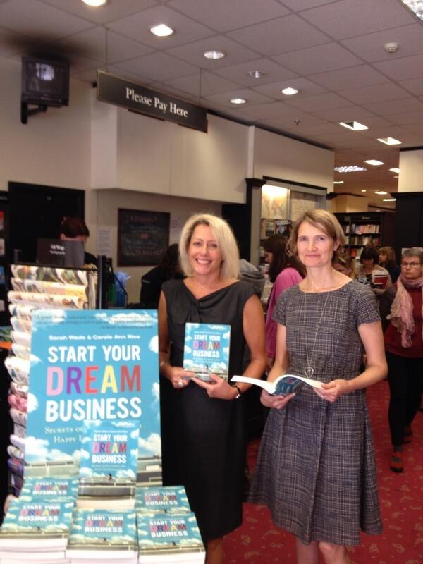 See @dreamjobsarah and I signing our hot new book @wstoneschiswick this Saturday at 2pm. http://t.co/txrwsGrMFu