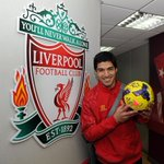 Exclusive photo: Four-goal Luis Suarez with the Norwich match ball #LFC http://t.co/VXA5S8GJxy