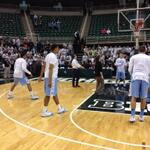 #UNCBBall on the floor for warm ups. Game at Michigan State at 9pm on ESPN. http://t.co/0C7jETrs4L