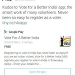 Voter registration process becoming very easy with @I_VBI Android phone app - http://t.co/uqqk5hTOr0 . http://t.co/zPxBN62pFV