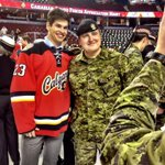.@Monahan20 meets a member of the Canadian Forces! #SupportOurTroops #heroes http://t.co/UUdROMGjXn